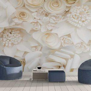 پوستر دیواری گل های کاغذی کد F-8522
