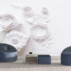 پوستر دیواری گل های کاغذی کد F-8528