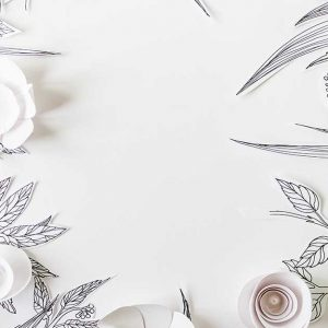 پوستر دیواری گل های کاغذی کد F-8510