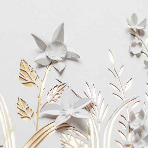 پوستر دیواری گل های کاغذی کد F-8518