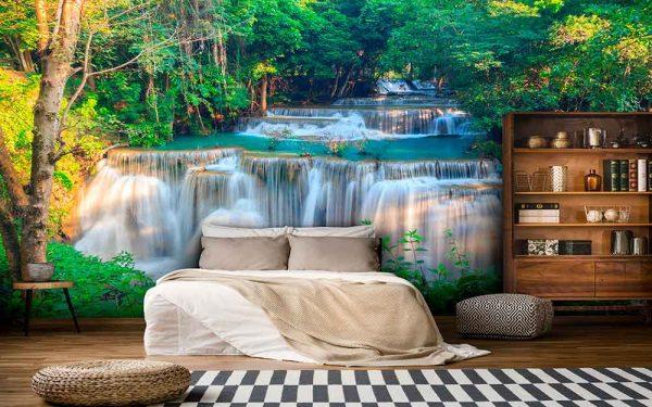 پوستر دیواری منظره آبشار کد n-7722