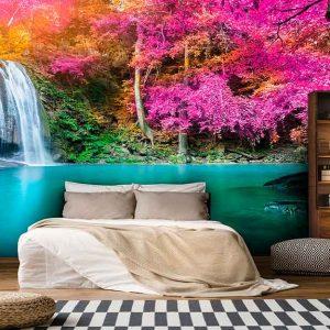 پوستر دیواری منظره آبشار کد n-7724