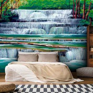 پوستر دیواری منظره آبشار کد n-7727
