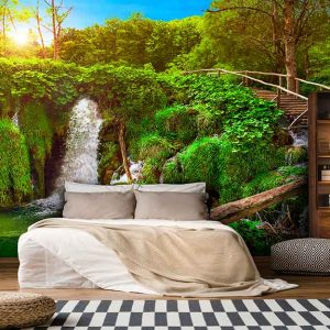 پوستر دیواری منظره آبشار کد n-7734
