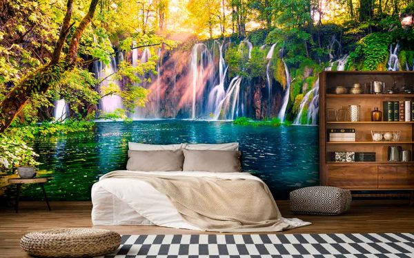 پوستر دیواری منظره آبشار کد n-7739