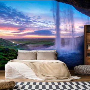 پوستر دیواری منظره آبشار کد n-7740