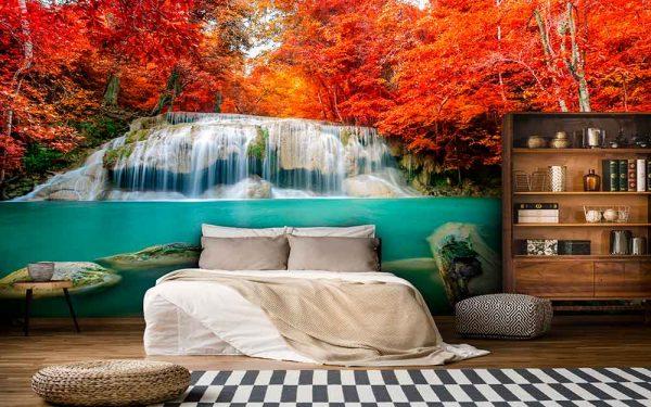 پوستر دیواری منظره آبشار کد n-7743