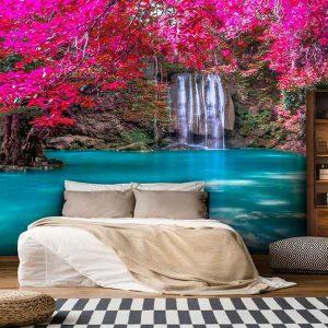 پوستر دیواری منظره آبشار کد n-7747