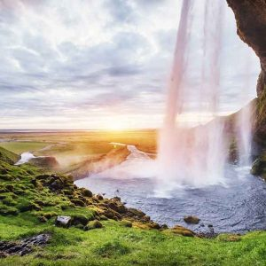 پوستر دیواری منظره آبشار کد n-7745