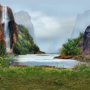 پوستر دیواری منظره آبشار کد n-7755