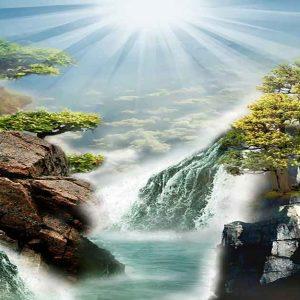 پوستر دیواری منظره آبشار کد n-7759
