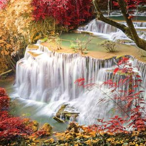 پوستر دیواری منظره آبشار کد n-7763