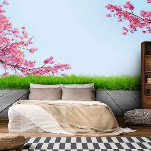 پوستر دیواری منظره بهار کد n-5853