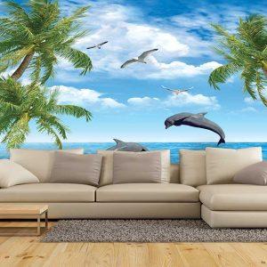 پوستر دیواری منظره دریا و ساحل کد n-7359