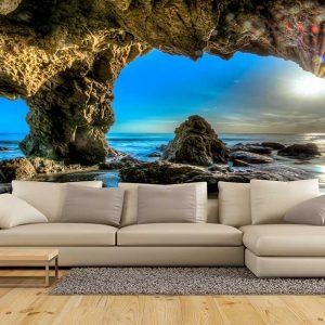 پوستر دیواری منظره دریا و ساحل کد n-7459