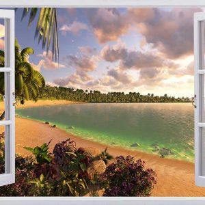 پوستر دیواری منظره دریا و ساحل کد n-7290