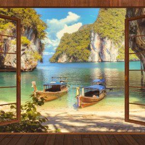 پوستر دیواری منظره دریا و ساحل کد n-7299