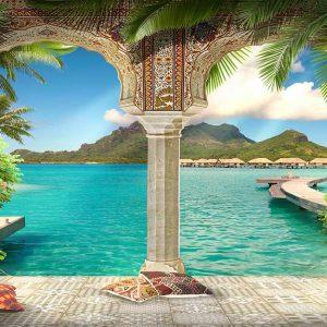 پوستر دیواری منظره دریا و ساحل کد n-7317
