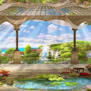 پوستر دیواری منظره دریا و ساحل کد n-7322