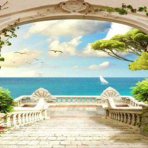 پوستر دیواری منظره دریا و ساحل کد n-7326