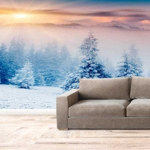 پوستر دیواری منظره زمستان کد n-6952
