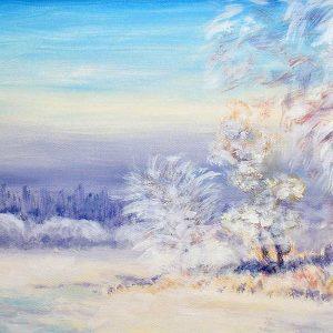 پوستر دیواری منظره زمستان کد n-6901