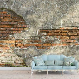 پوستر دیواری منظره صخره و دیوار کد n-14529