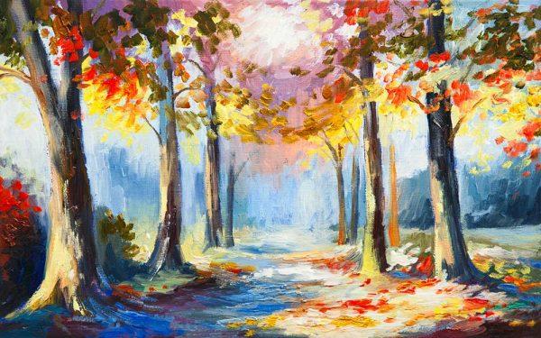 پوستر دیواری منظره پاییز کد n-6416