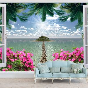 پوستر دیواری منظره پنجره کد n-7860
