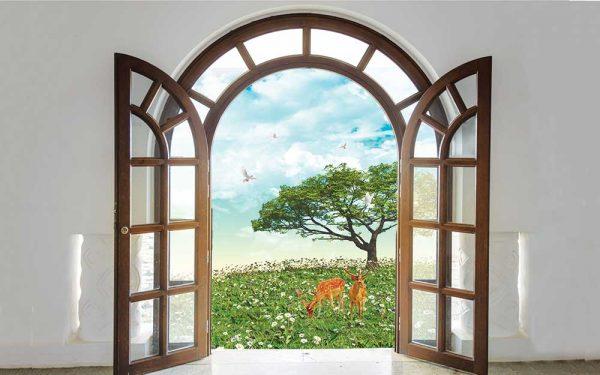 پوستر دیواری منظره پنجره کد n-7850
