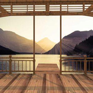 پوستر دیواری منظره پنجره کد n-7861