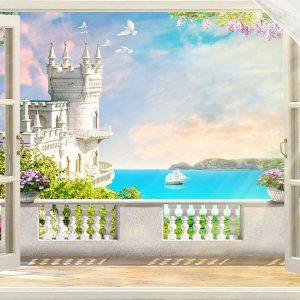 پوستر دیواری منظره پنجره کد n-7966
