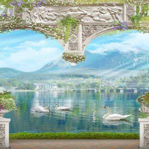 پوستر دیواری منظره پنجره کد n-7967
