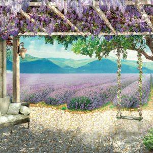 پوستر دیواری منظره تابستان کد n-6322