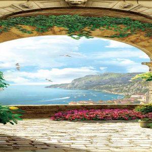 پوستر دیواری منظره تابستان کد n-6419