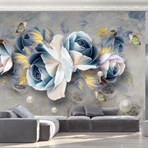 پوستر دیواری گل سه بعدی کد l-6051