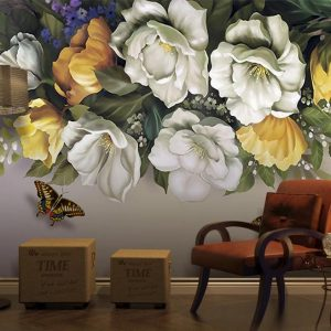 پوستر دیواری گل سه بعدی کد l-6052