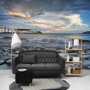پوستر دیواری منظره دریا و ساحل کد mt-831400