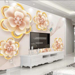 پوستر دیواری گل سه بعدی کد mt-1000