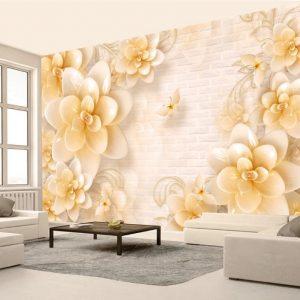 پوستر دیواری گل سه بعدی کد mt-1001