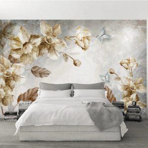 پوستر دیواری گل سه بعدی کد mt-1004