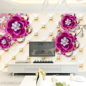 پوستر دیواری گل سه بعدی کد mt-1010