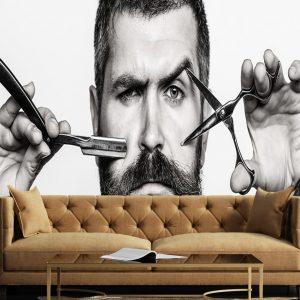 پوستر دیواری آرایشگاه مردانه کد b-2026