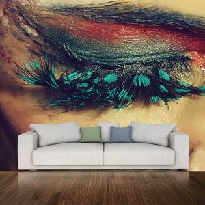 پوستر دیواری چشم و لب u-14303