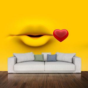 پوستر دیواری چشم و لب u-14306