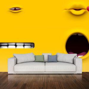 پوستر دیواری چشم و لب u-14312