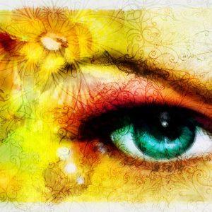 پوستر دیواری چشم و لب u-14318