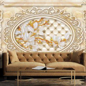 پوستر دیواری گل سه بعدی کد mt-83285