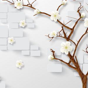 پوستر دیواری گل سه بعدی کد mt-83295