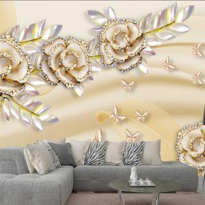 پوستر دیواری گل سه بعدی کد mt-83357